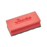 Губка Профи с системой ПурАктив, 6,3х14 см, красная