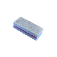 Губка с покрытием из абразивного волокна синяя