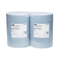 Салфетка протирочная 2-х слойная «TORK» Blue